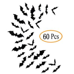 Fntacetik Halloween Bats Wall Decor, 60 Pcs