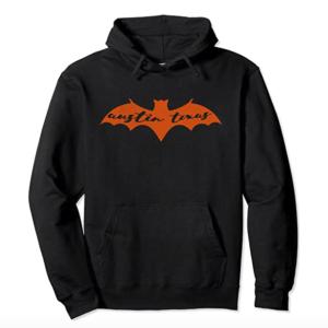 Austin Texas Burnt Orange Bat Congress Ave Bridge Halloween Pullover Hoodie