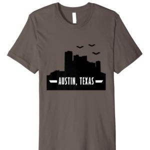 Bats in Downtown Austin Texas Souvenir Premium T-Shirt