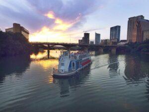 Bat Watching Cruises Aboard The Lone Star Paddlewheel Boat